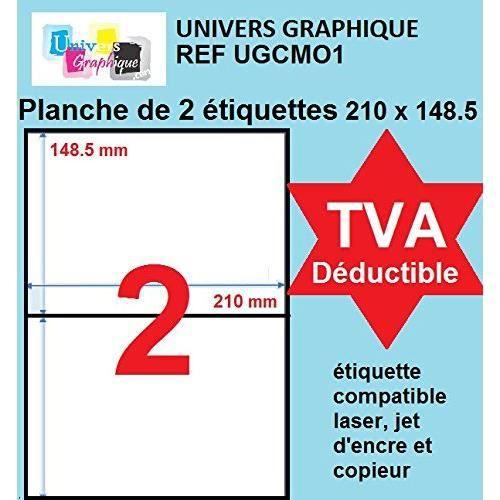 120 /étiquettes dexp/édition blanches 105 x 99 mm jet dencre Grammage 70 gr//m/² 20 feuilles A4 pour impression laser Copieur