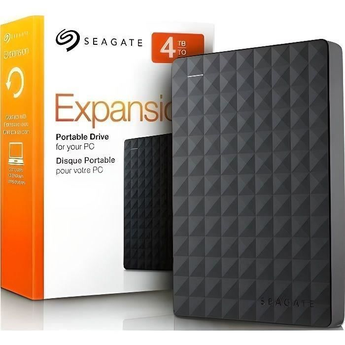 Seagate Disque Dur Externe Expansion portable 4ToSeagate Disque Dur Externe Expansion portable 4To