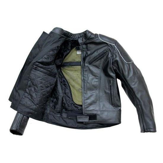HOMME Pantalon CUIR COUPE 501 moto Biker Chopper 100 /% CUIR AVEC DOUBLURE