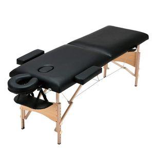 Table de massage Table de massage Pliante 2 zones Cadre en Bois Hau