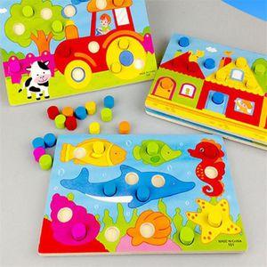JEU D'APPRENTISSAGE Conseil de Cognition de couleur Montessori jouets