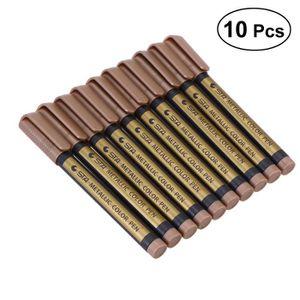 MARQUEUR 10pcs stylos marqueur métallique pour écrire peint