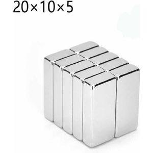 AIMANT 6 X Aimants Puissants De Néodyme 20X10X5mm NdFeB N