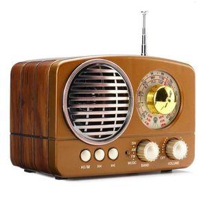 RADIO CD CASSETTE Radio Rétro Portable bluetooth FM AM SW 5W Marron*