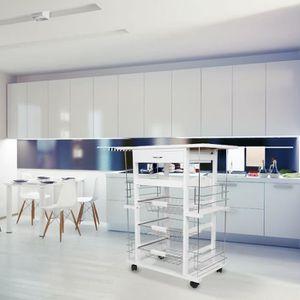 DESSERTE - BILLOT Desserte de cuisine 1 tiroir et 4 étageres Casnely
