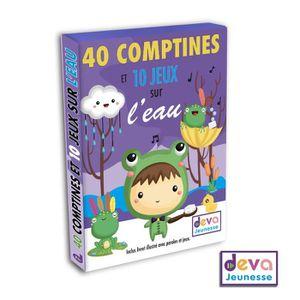 CD COMPTINES - ENFANTS Comptines et jeux sur l'eau ( 2CD + Livre jeux et