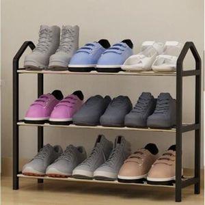 MEUBLE À CHAUSSURES Etagère Range Chaussures 9 Paires 63*20*45cm mode