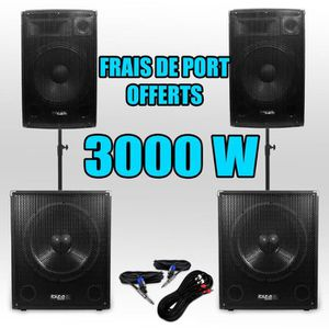 PACK SONO Pack 151515 Sonorisation 3000W Caisson bi-amplifié