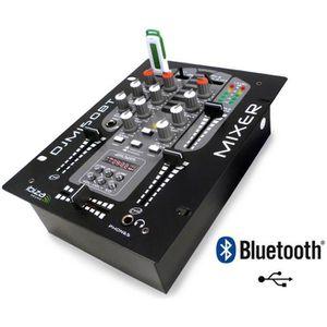 TABLE DE MIXAGE Table de mixage 2 voies 5 canaux MP3 USB / BLUETHO