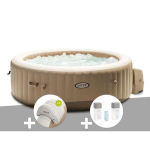 SPA COMPLET - KIT SPA Kit spa gonflable Intex PureSpa Sahara rond Bulles