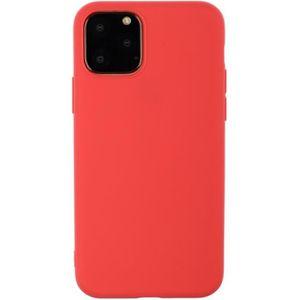 COQUE - BUMPER Coque iPhone 11,Rouge 1 Couleur unie Souple Anti R