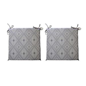 COUSSIN DE CHAISE  O'CBO Lot de 2 galettes de chaises déhoussables Co