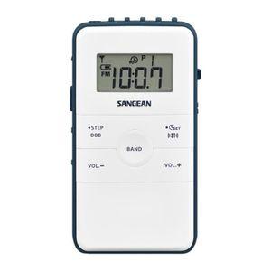 RADIO CD CASSETTE Radio de poche FM/AM Sangean - Pocket 140 Blanc