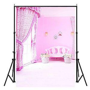 FOND DE STUDIO Rose Maison Photo Toile de fond, 150cmx210cm béb
