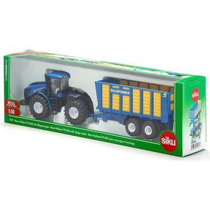 VOITURE - CAMION SIKU Tracteur New Holland avec Remorque d'Ensilage