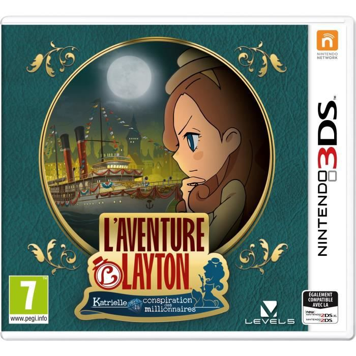 l 39 aventure layton katrielle et la conspiration des millionnaires jeu 3ds achat vente jeu. Black Bedroom Furniture Sets. Home Design Ideas