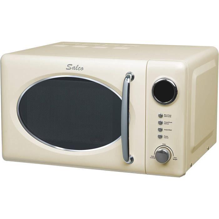 w grill micro-ondes rétro salco, 20 l, 700, beige SRM-20.6G