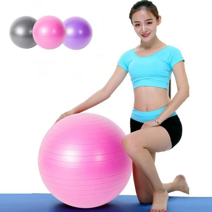 GYM BALL Exercice Yoga AntiBurst Gym Ball 55cm 65cm 75cm Extra Thick Swiss Ball avec Pompe Convient pour Home Gym Office Chai404