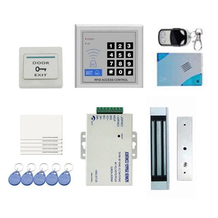 Kit Complet de ContrôLe D'AccèS de Porte RFID Bricolage pour Porte Simple 180Kg - 396Lbs Carte de Verrouillage MagnéTique à