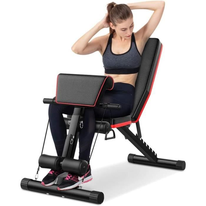 OUI Chaise de fitness auxiliaire multifonctionnelle avec haltères