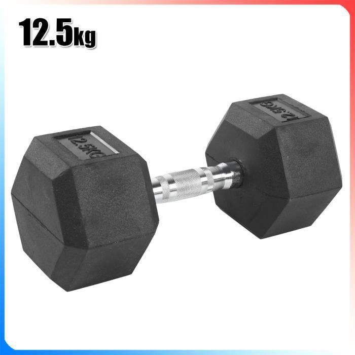 Lot d'haltères 12.5kg musculation – poids musculation