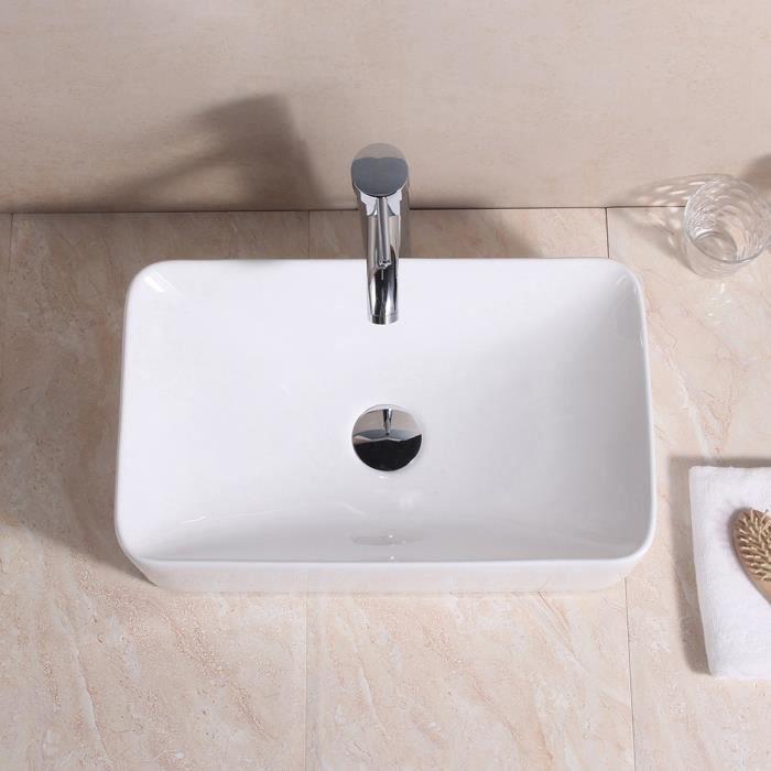 Lavabo de salle de bain en céramique Lavabo Blanc Lave-Mains Vasque Lavabo en Céramique Lave-Mains lave main évier vasque Vasque