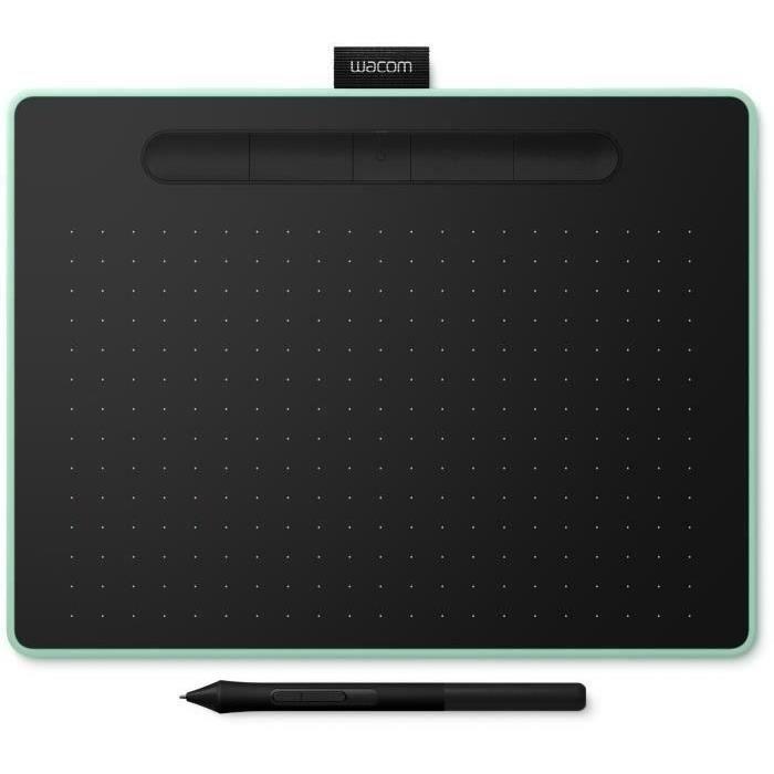 WACOM Tablette Graphique Intuos M Bluetooth - Pistachio + ACK-20003 5 pointes stylet feutre