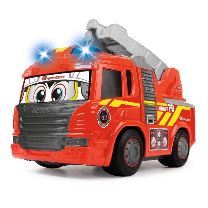Happy Fire Truck Voiture de Pompier motorisée avec lumière et Son
