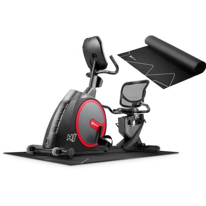Vélo semi-allongé HS-300L Canion - Ceinture télémétrique - Tapis d'amortissement - Facile à déplacer