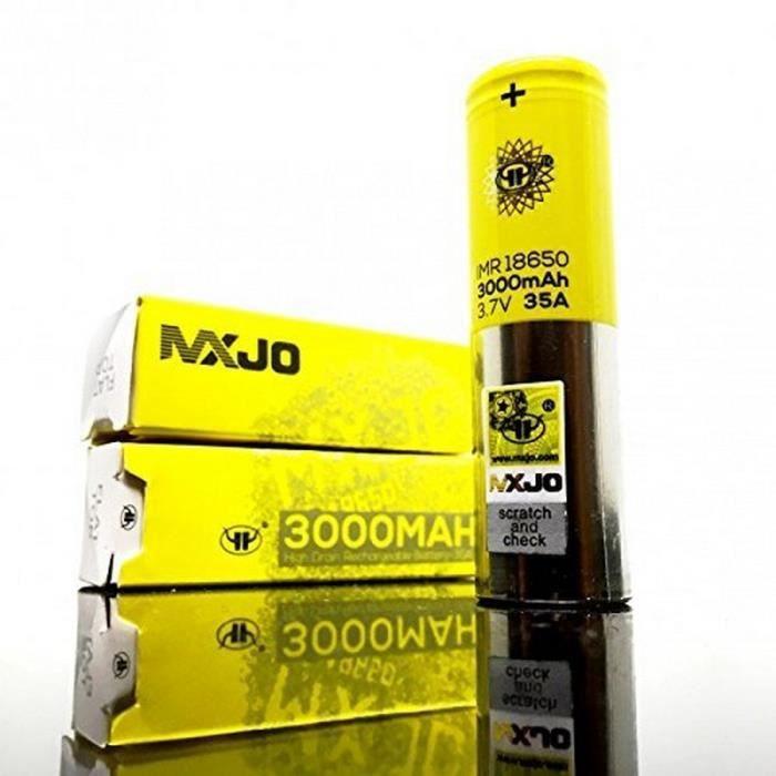 Lot 2 Accu MXJO 3000mAh 35A IMR18650 - Cigarette Pile Vapoteuse - 853