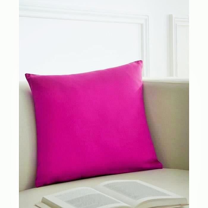 TODAY Coussin déhoussable 100% coton 40x40cm Jus de Myrtille