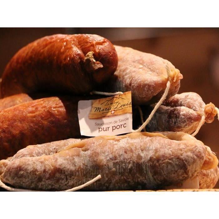 LOT DE 9 SAUCISSONS DE SAVOIE : 5 saucissons Pur porc + 4 fumé