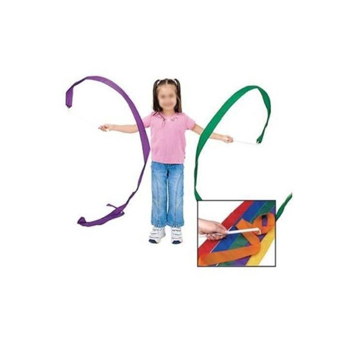 4 couleurs Rubans de Gymnastique avec Manche en Plastique