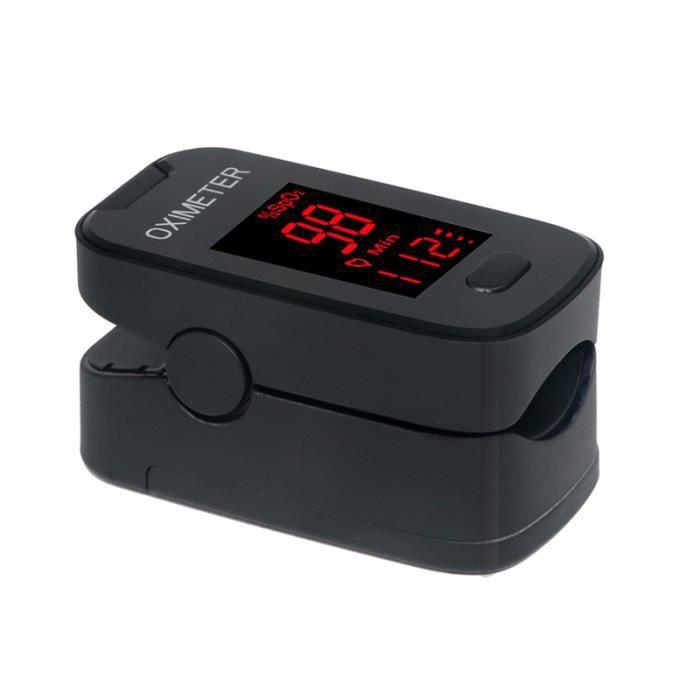Fingertip oximeter Clip Finger oxymètre de pouls rythme cardiaque détecter mètre moniteur doigt impulsion de l'oxygène - NOIR