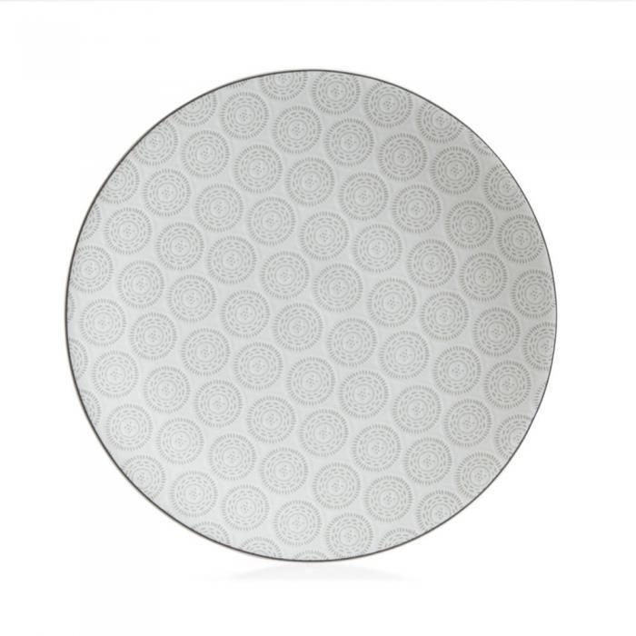 Assiette plate 27 cm chloe gris (lot de 6) - Table Passion Gris
