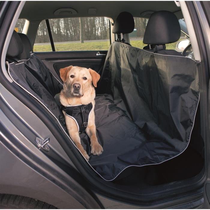 TRIXIE Couverture pour sièges de voiture - 1,45x1,60 m - Noir - Pour chien