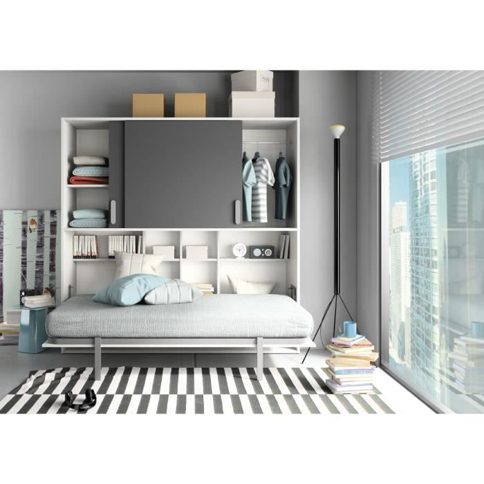 lit abattant achat vente lit escamotable lit abattant cdiscount. Black Bedroom Furniture Sets. Home Design Ideas