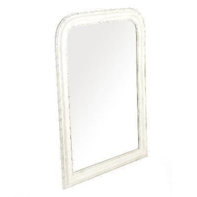 Miroir grand baroque 104 x 77 achat vente miroir for Grand miroir blanc baroque