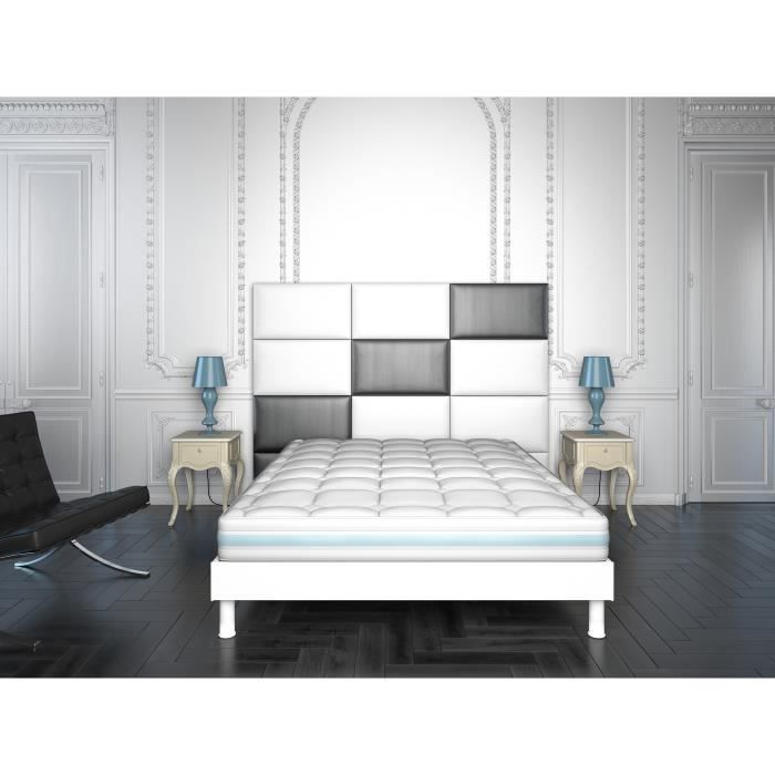 matelas m moire de forme visco 160x200 achat vente matelas cdiscount. Black Bedroom Furniture Sets. Home Design Ideas