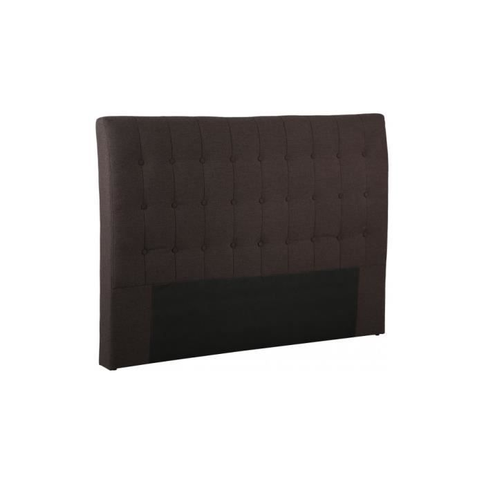 t te de lit capitonn e tissu chin prune pour lit 140 achat vente canap sofa divan. Black Bedroom Furniture Sets. Home Design Ideas