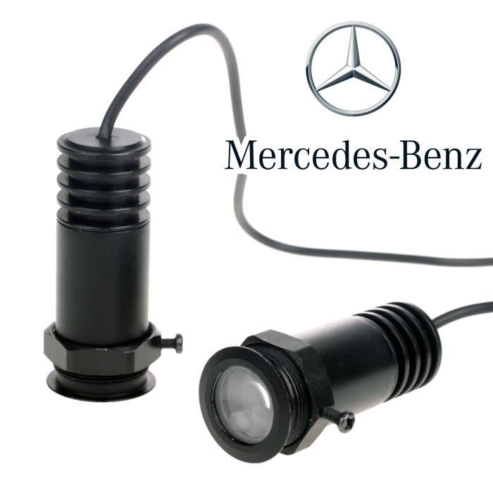 2x 12v ampoule led lampe de porte voiture projecteur pour mercedes benz achat vente. Black Bedroom Furniture Sets. Home Design Ideas