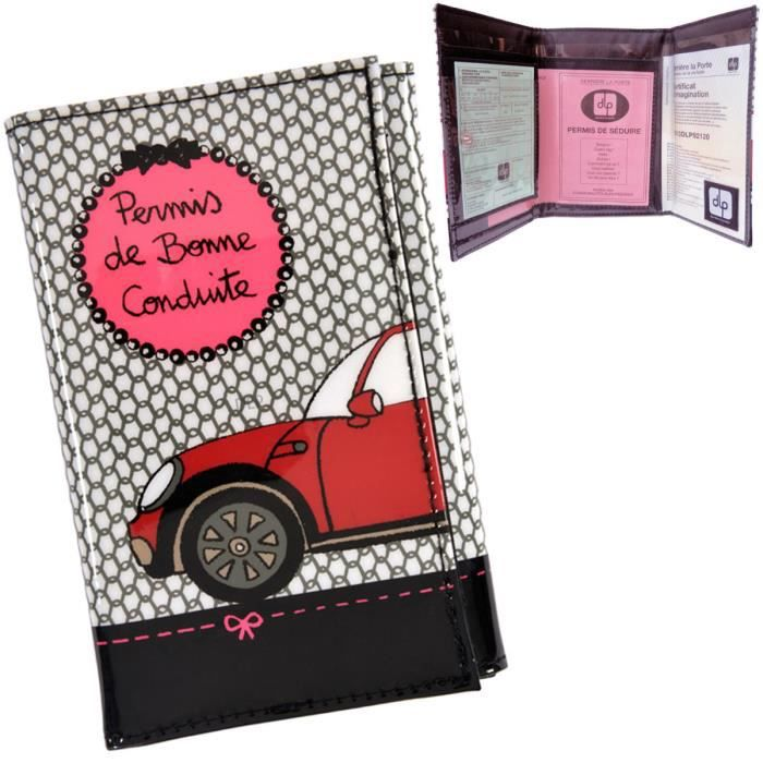 porte papiers de voiture chic derri re la porte gris gris rose noir achat vente porte. Black Bedroom Furniture Sets. Home Design Ideas