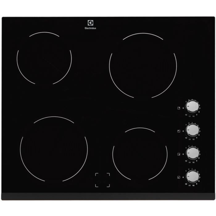 electrolux table de cuisson induction 60cm 4 feux 6000w noir ehv6140fok achat vente. Black Bedroom Furniture Sets. Home Design Ideas