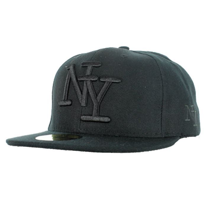 casquette new york ny reglage snapback broderi achat vente casquette csq new york noir noir. Black Bedroom Furniture Sets. Home Design Ideas