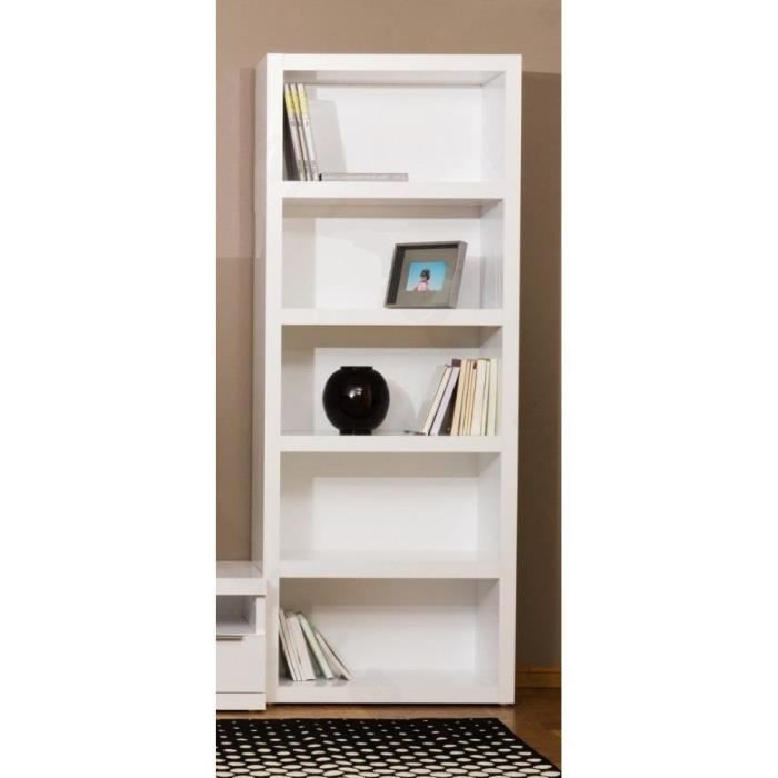 vallee bibliotheque tag re meuble design blanc achat. Black Bedroom Furniture Sets. Home Design Ideas