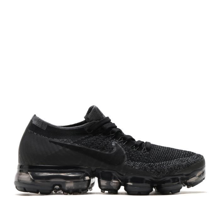 baskets nike air vapormax flyknit chaussure de running trainer femme noir gris noir noir achat. Black Bedroom Furniture Sets. Home Design Ideas