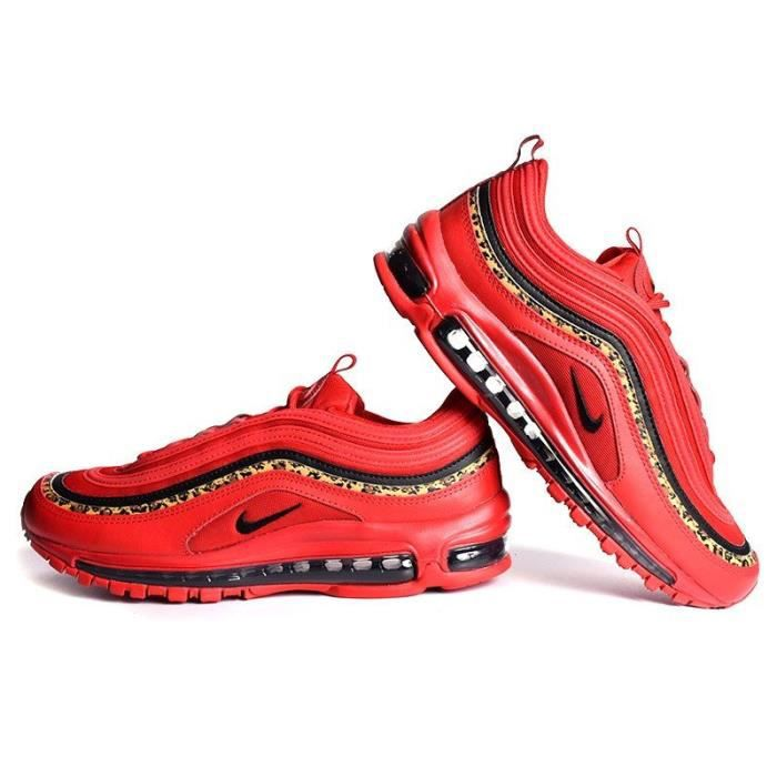 NIKE WMNS AIR MAX 97 LEOPARD ROUGE (ROUGE UNIVERSITAIRE ...