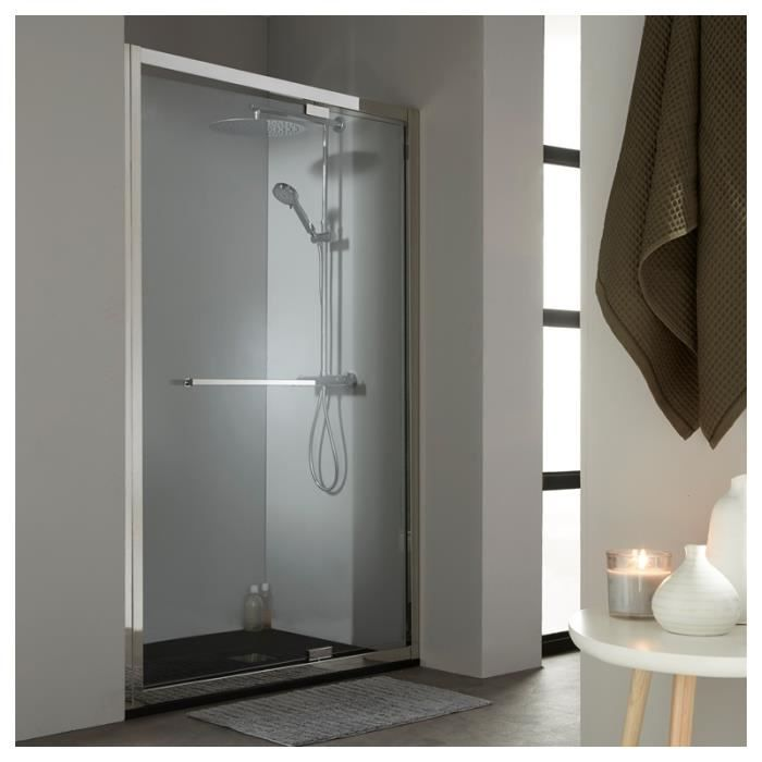 porte de douche pivotante 120 cm tout inox chrom achat. Black Bedroom Furniture Sets. Home Design Ideas