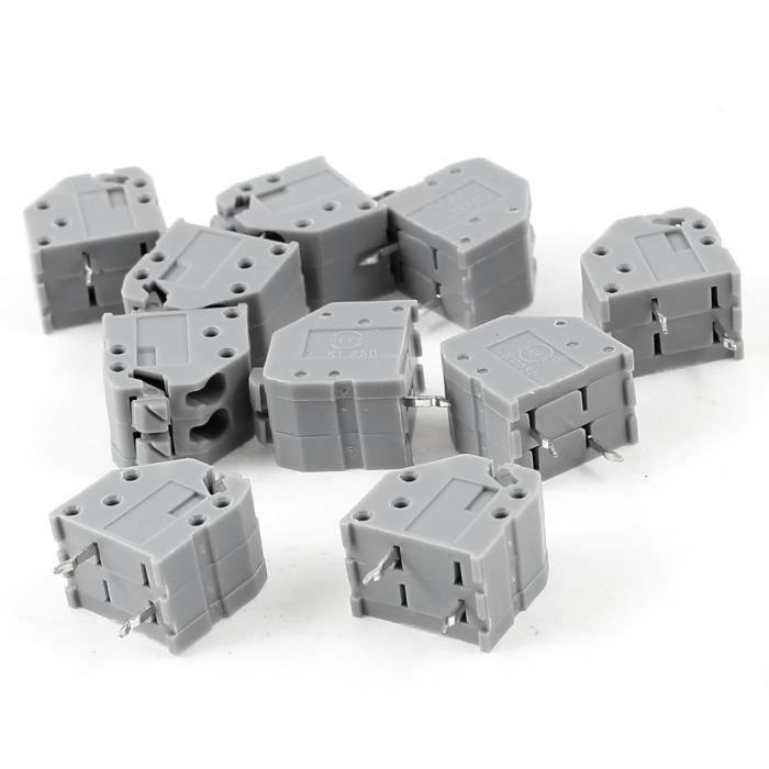 10 PCS 3 épingles droites s/'espacement de 3,5 mm PCB Panneau vert Borniers à vis