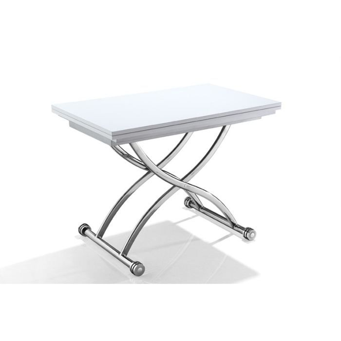 Table relevable extensible blanche pas cher - Table basse industrielle pas chere ...